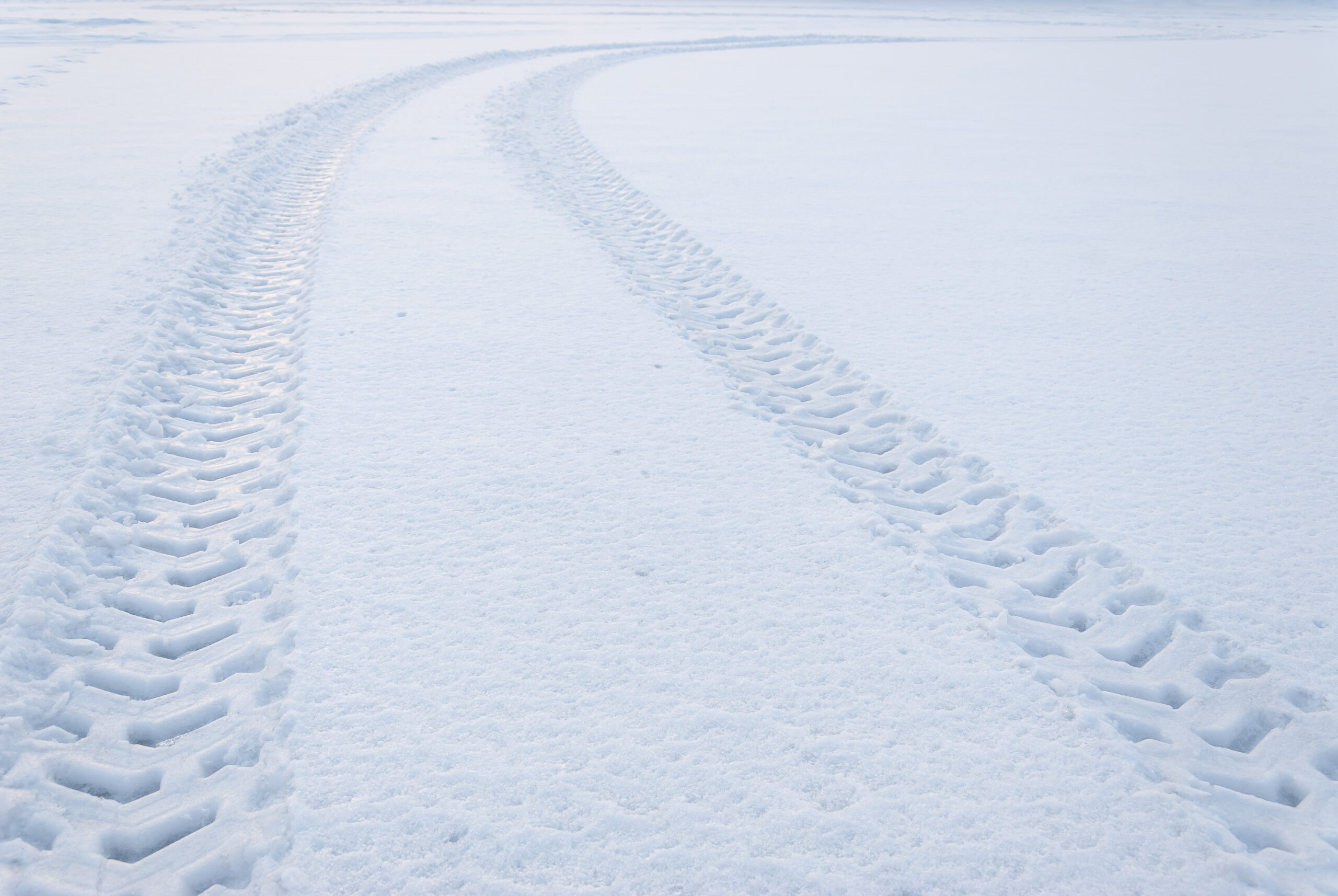 OUTCO vehicle tracks in snow