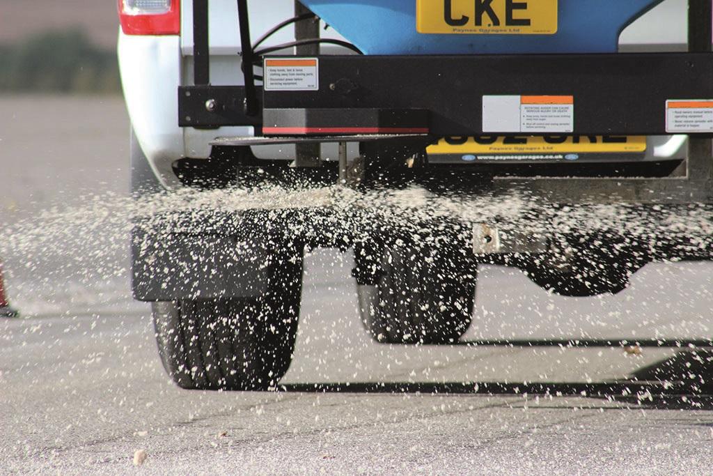 White winter gritting salt